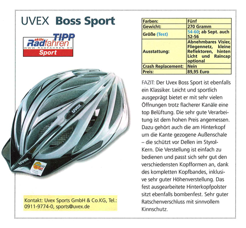 uvex sport boss rs