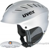 Skihelm uvex x-ride motion air - silver mat