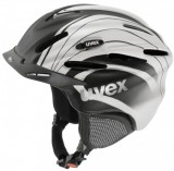 Skihelm - uvex ultrasonic pro graphics - black   white deco