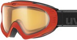 Polarisation-Skibrille uvex F2 Polavision - neon orange mat