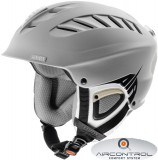 Skihelm uvex x-ride motion air - silver / cyan mat