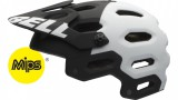 Bell Super 2 MIPS MTB Helm - mat black / white aggression