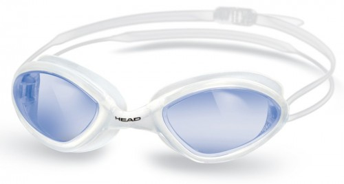 HEAD TIGER RACE LSR + Schwimmbrille -  CLWH BL (Clear-White Blue)